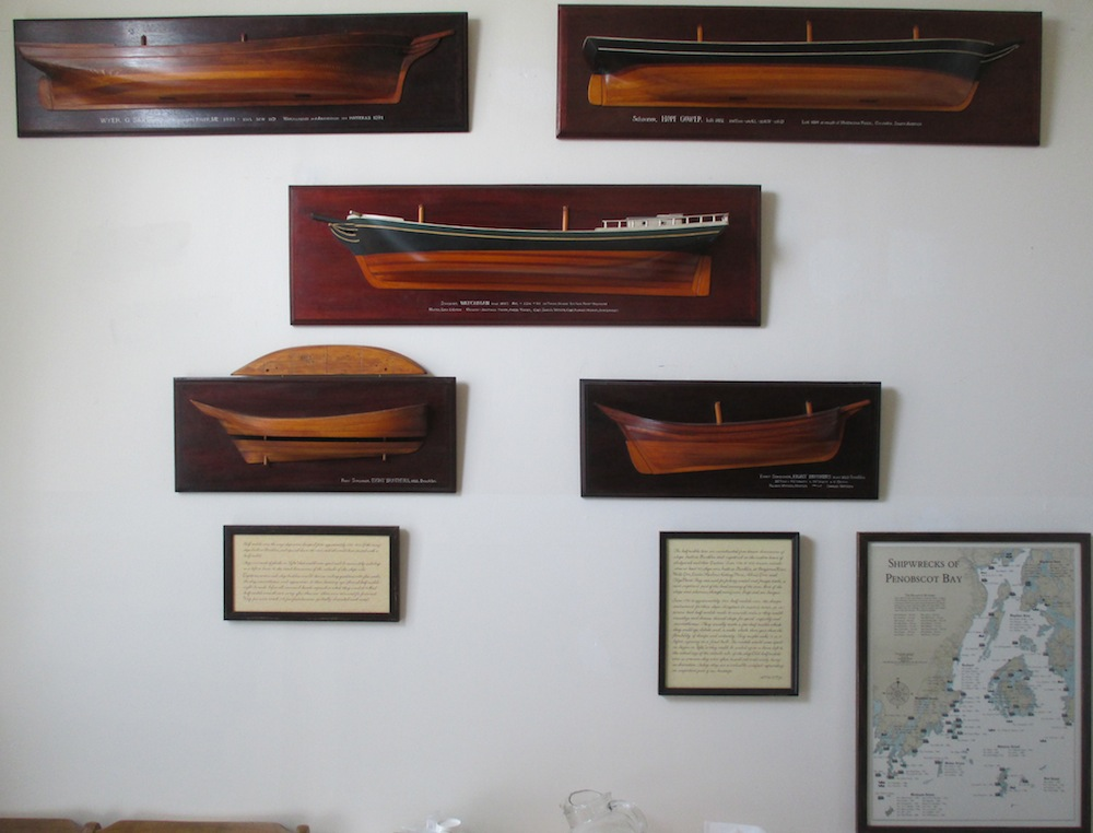 Also, there's a wall devoted to half models of some Brooklin commercial sailing vessels.