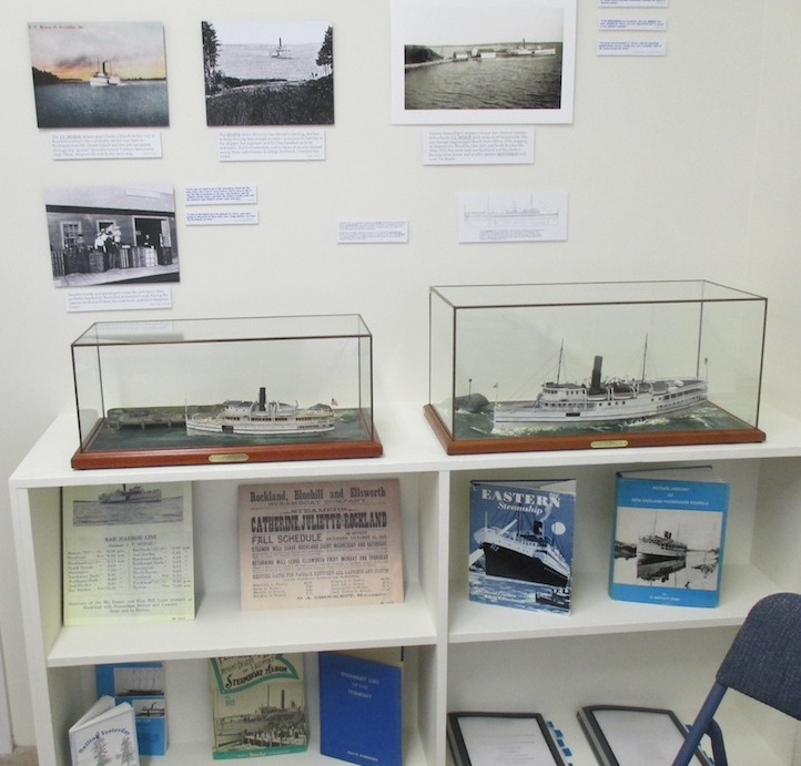 Models of the sidewheeler J. T. MORSE & the propeller-driven SOUTHPORT are included along with timetables and publications.